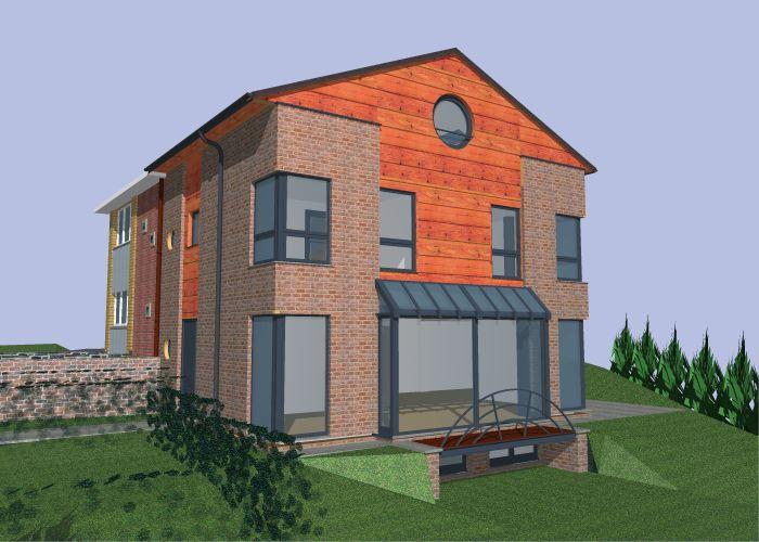 Maison 3 faces pierre pagniez architecte for Entrepreneur maison